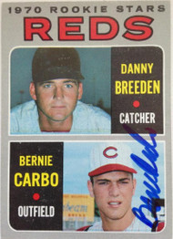 Bernie Carbo Autographed 1970 Topps #36 Rookie Card