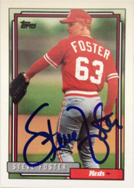 Steve Foster Autographed 1992 Topps #528