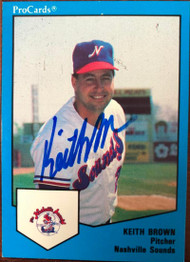 Keith Brown Autographed 1989 Pro Cards #1296