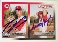 Ryan Wagner & Aaron Harang Autographed 2005 Topps Total #605
