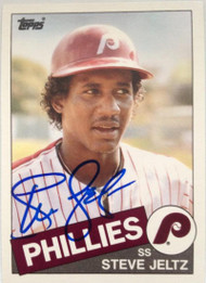 Steve Jeltz Autographed 1985 Topps Traded #62T Rookie Card