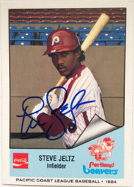 Steve Jeltz Autographed 1984 Cramer Pacific Coast League #205