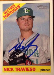 Nick Travieso Autographed 2015 Topps Heritage Minor League Edition #176