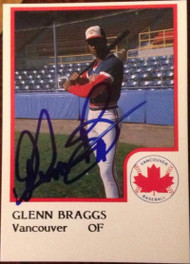 Glenn Braggs Autographed 1986 Pro Cards #5
