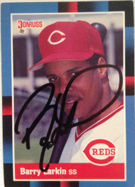 Barry Larkin Autographed 1988 Donruss #492 Signed in Black