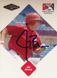 Jay Bruce Autographed 2005 Just Minors Rookie Card #12