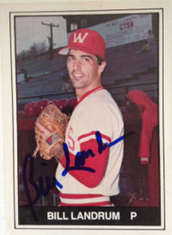 Bill Landrum Autographed 1982 TCMA Minor League #459
