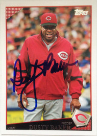 Dusty Baker Autographed 2009 Topps #54