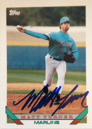 Matt Turner Autographed 1993 Topps Traded #56T