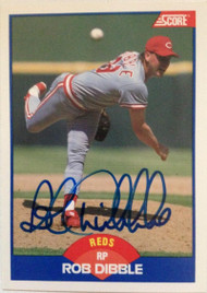 Rob Dibble Autographed 1989 Score #618 Rookie Card