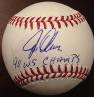 SOLD 3868 Joe Oliver Autographed ROMLB Baseball '90 WS Champs