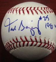 SOLD 3869 Todd Benzinger Autographed ROMLB Baseball 1990 World Champs