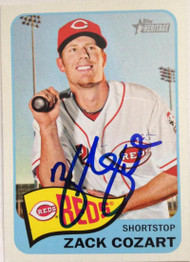 Zack Cozart Autographed 2014 Topps Heritage #339