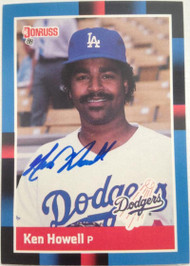 Ken Howell Autographed 1988 Donruss #130