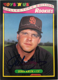 John Kruk Autographed 1987 Topps Toys R US Rookies #17