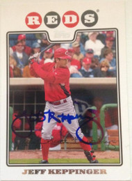 Jeff Keppinger Autographed 2008 Topps #657