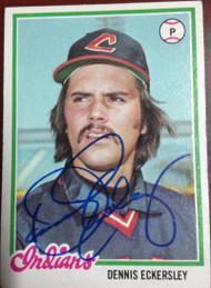 Dennis Eckersley Autographed 1978 Topps #122