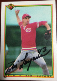 Tim Layana Autographed 1990 Bowman #41