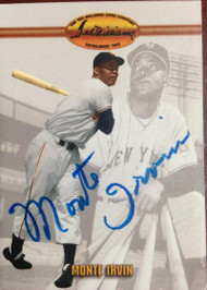Monte Irvin Autographed 1993 Ted Williams Card Company #54