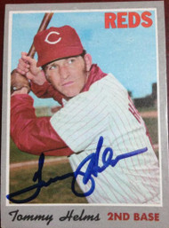 Tommy Helms Autographed 1970 Topps #159