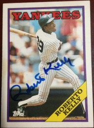 Roberto Kelly Autographed 1988 Topps Traded #57T