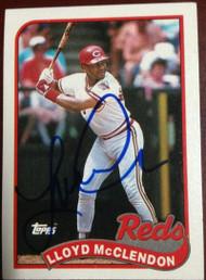 SOLD 3984 Lloyd McClendon Autographed 1989 Topps #644