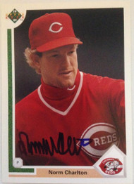 Norm Charlton Autographed 1991 Upper Deck #394
