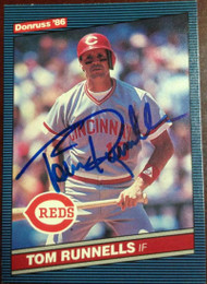 Tom Runnells Autographed 1986 Donruss #569