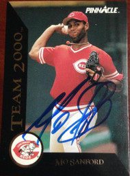 Mo Sanford Autographed 1992 Pinnacle Team 2000 #77
