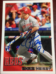 Chris Heisey Autographed 2010 Topps #US-177
