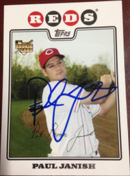 Paul Janish Autographed 2008 Topps Updates & Highlights #UH16