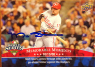SOLD 2563 Matt Stairs Autographed 2008 Upper Deck Philadelphia Phillies World Series Champions #PP-45