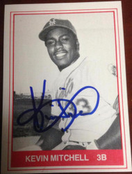 Kevin Mitchell Autographed 1982 TCMA Lynchburg Mets #6