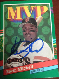 Kevin Mitchell Autographed 1991 Donruss #407