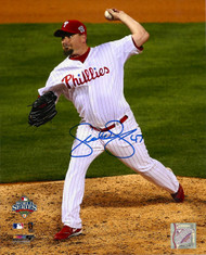 Scott Eyre Autographed Phillies 8 x 10  Photo