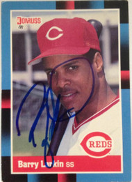 Barry Larkin Autographed 1988 Donruss #492 Signed in Blue