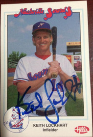 Keith Lockhart Autographed 1989 Nashville Sounds Team Issued Card Blank Back