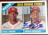 Yorman Rodriguez Autographed 2015 Topps Heritage #311