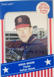 Roger Mason Autographed 1991 Pro Cards Triple A All-Stars #536