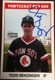 Todd Benzinger Autographed 1987 TCMA #13 Pawtucket Red Sox