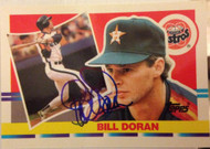 Bill Doran Autographed 1990 Topps Big #159