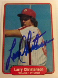 Larry Christenson Autographed 1982 Fleer #244