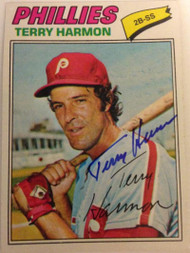 Terry Harmon Autographed 1977 Topps #388