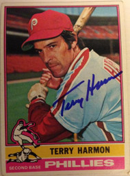 Terry Harmon Autographed 1976 Topps #247