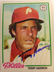Terry Harmon Autographed 1978 Topps #118