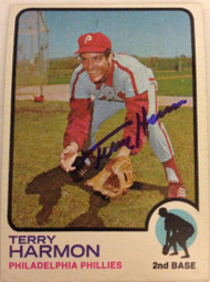 Terry Harmon Autographed 1973 Topps #166