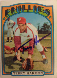 Terry Harmon Autographed 1972 Topps #377