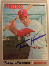 Terry Harmon Autographed 1970 Topps #486