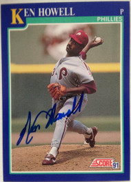 SOLD 4072 Ken Howell Autographed 1991 Score #458