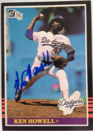 Ken Howell Autographed 1985 Donruss #592